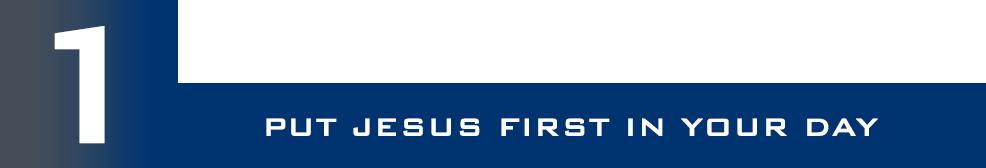 1-Jesus First